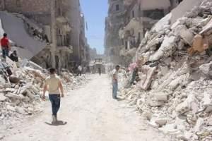 قصف على حي المشهدبحلب يخلف عددامن القتلى والجرحى