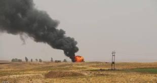 دير الزور استمرار اشتباكات داعش- النظام و التحالف يغير على حقول نفط