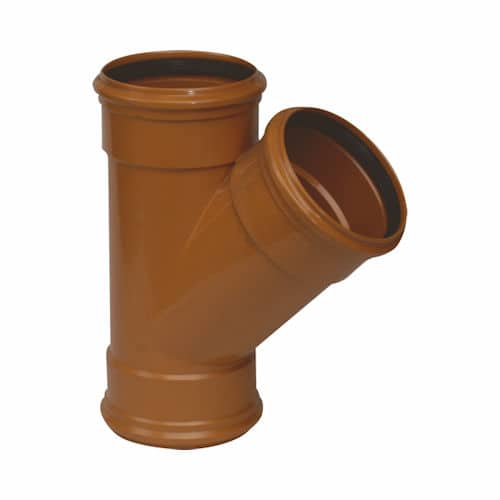 110mm Underground Drainage triple socket Y branch
