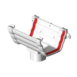 White Double Ogee Guttering 135mm