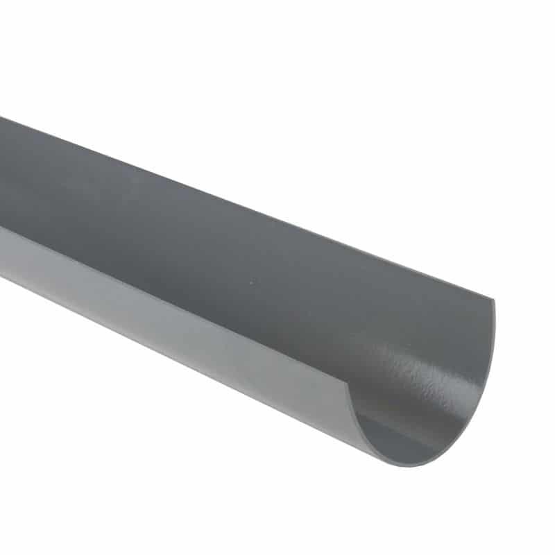 170mm Commercial Gutter 2m Light Grey