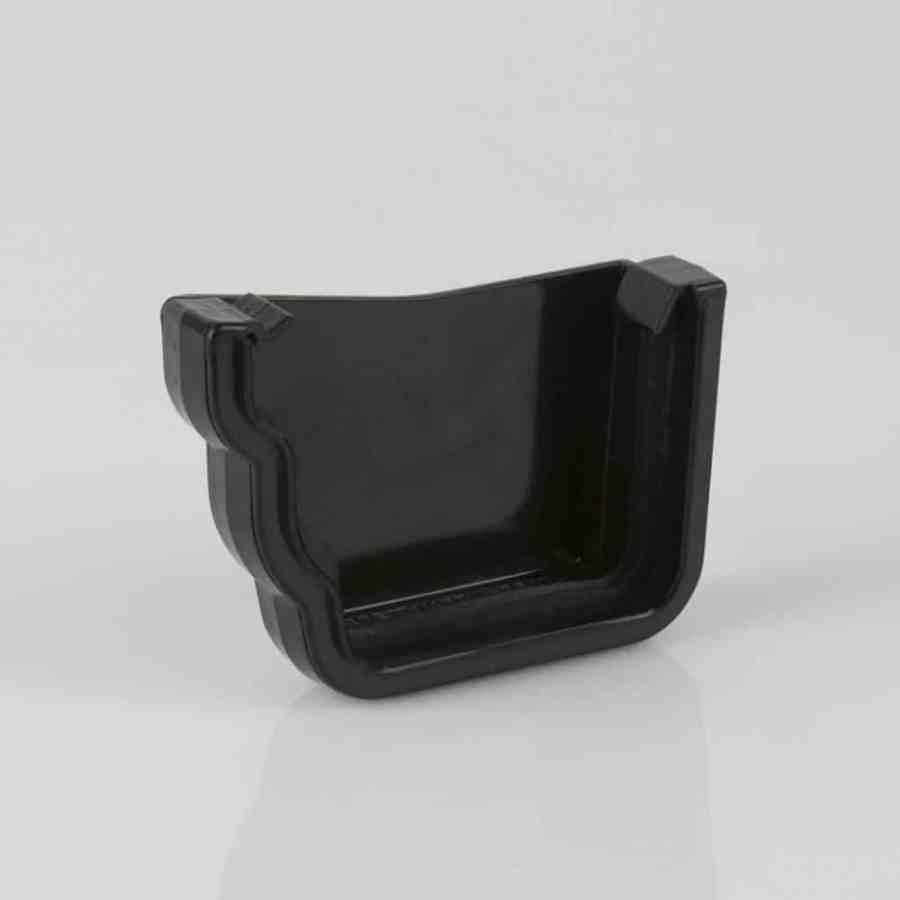 Left External Stop End 106mm Ogee Prostyle Black