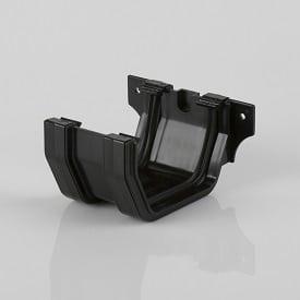 Squarestyle 114mm Gutter Joining Bracket Black