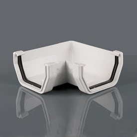 Squarestyle 114mm 90' Gutter Angle White
