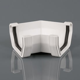 Squarestyle 114mm 135' Gutter Angle White