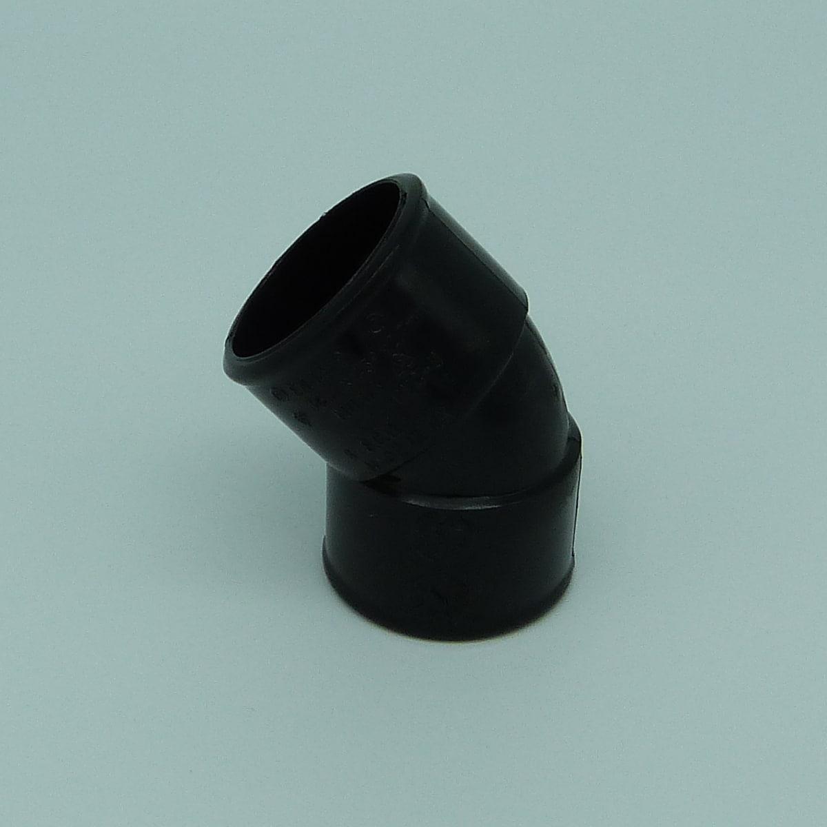 32mm solvent weld 45d bend black