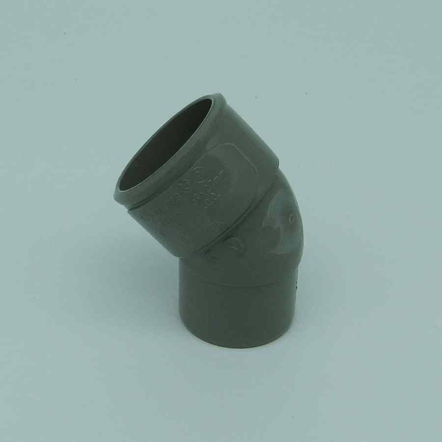 32mm solvent weld 45d street bend grey