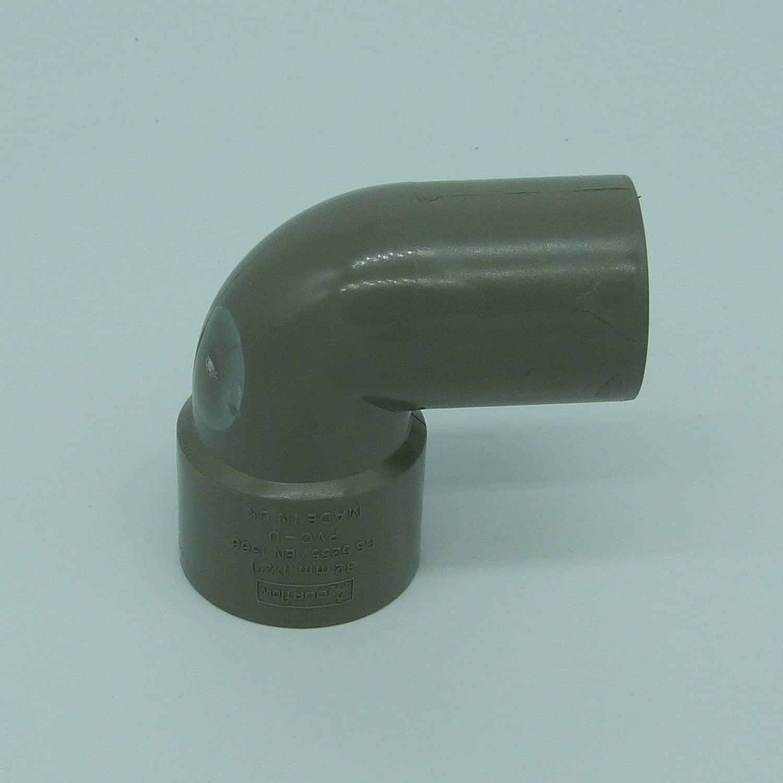 32mm solvent weld 90d street bend grey