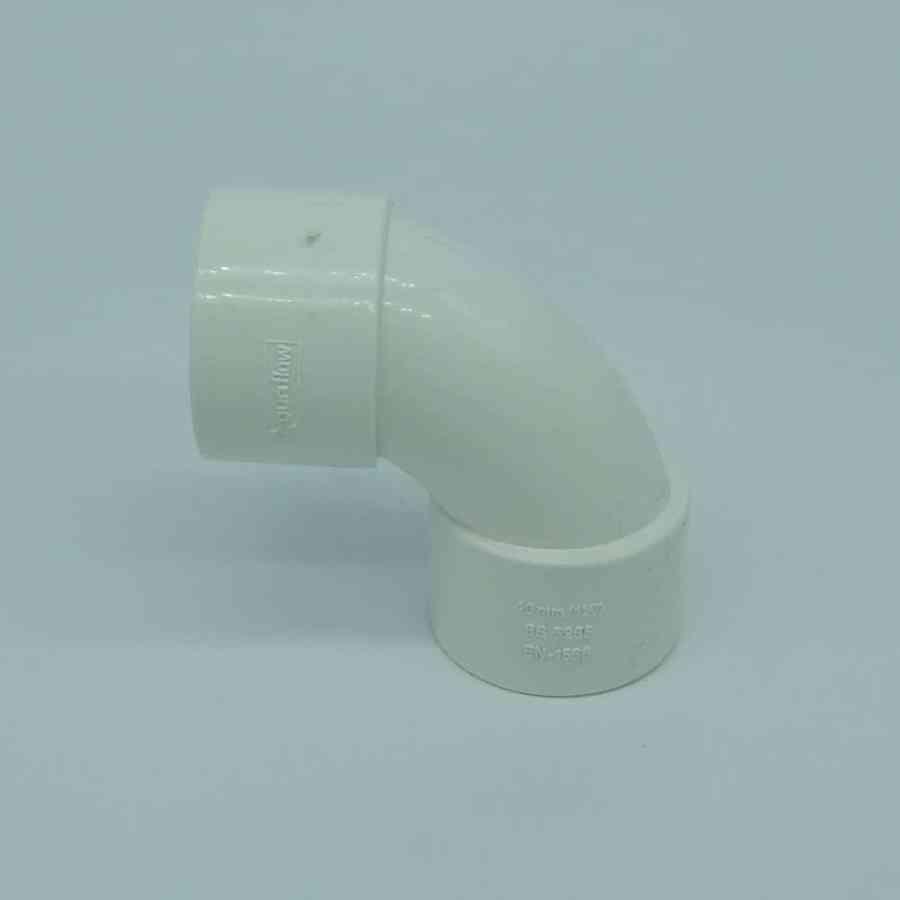 40mm solvent weld 90 swept bend white