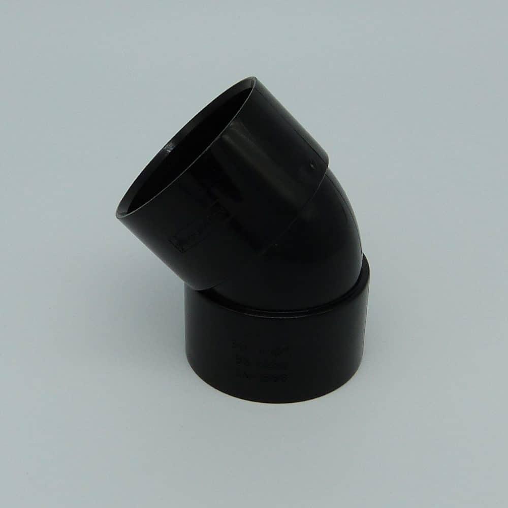 50mm Solvent Weld 135' Obtuse Bend Black