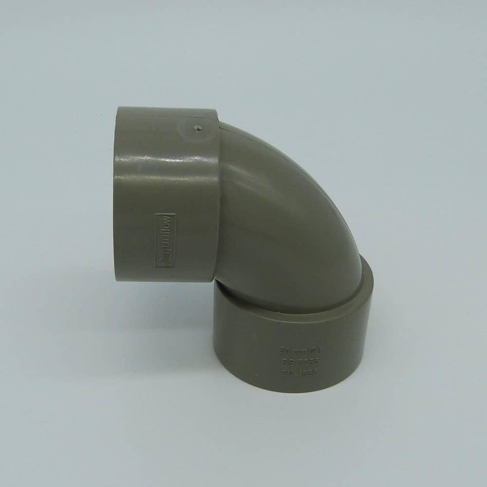 50mm Solvent Weld 92.5' Swept Bend Grey