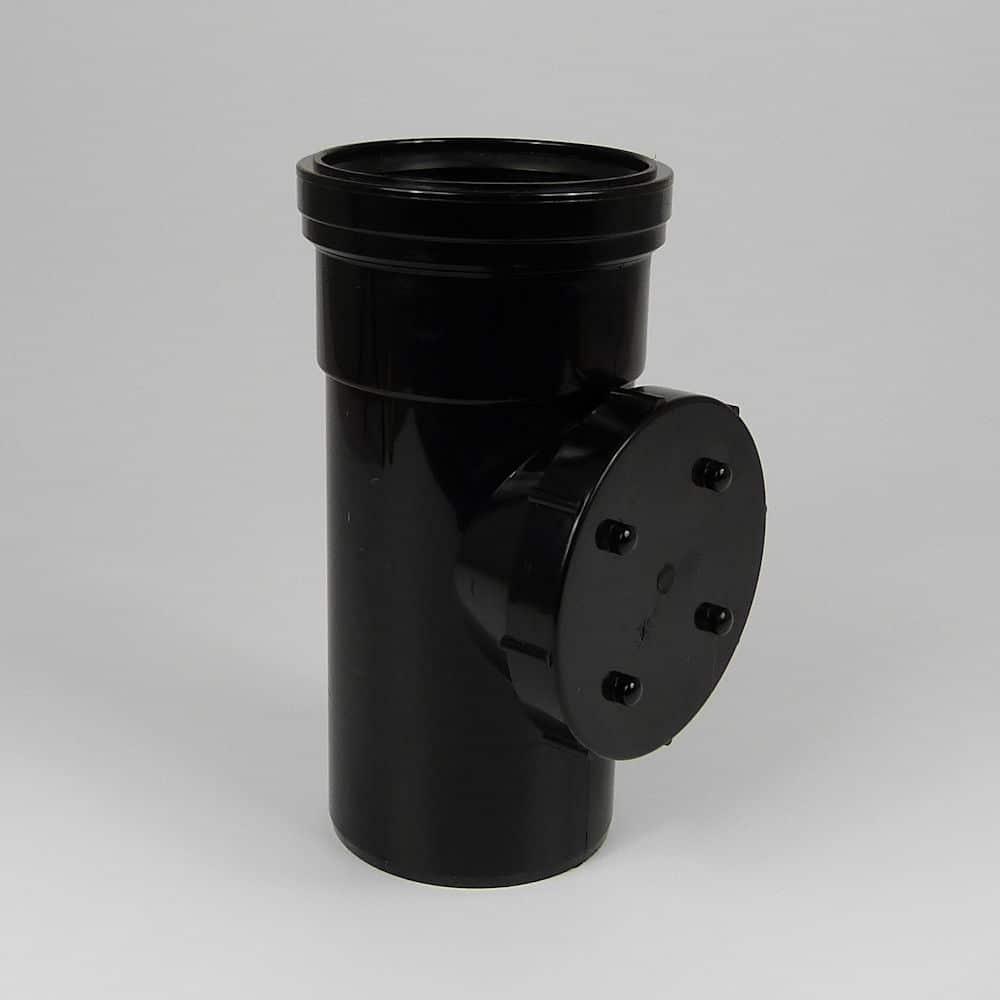 110mm PushFit Soil S/S Access Pipe Black