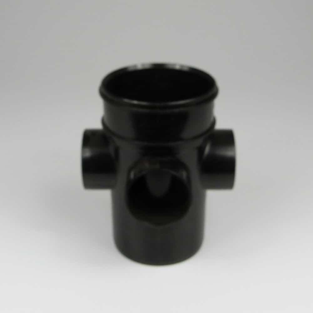 110mm solvent long boss pipe ss black