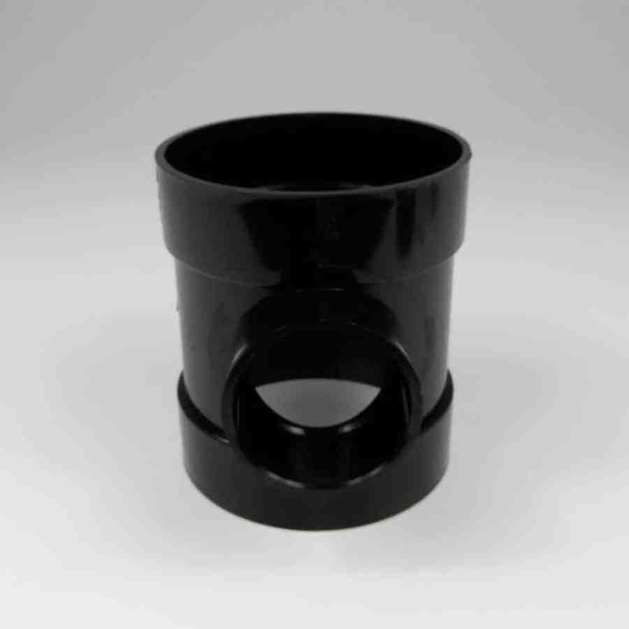 110mm x 50mm short boss pipe black