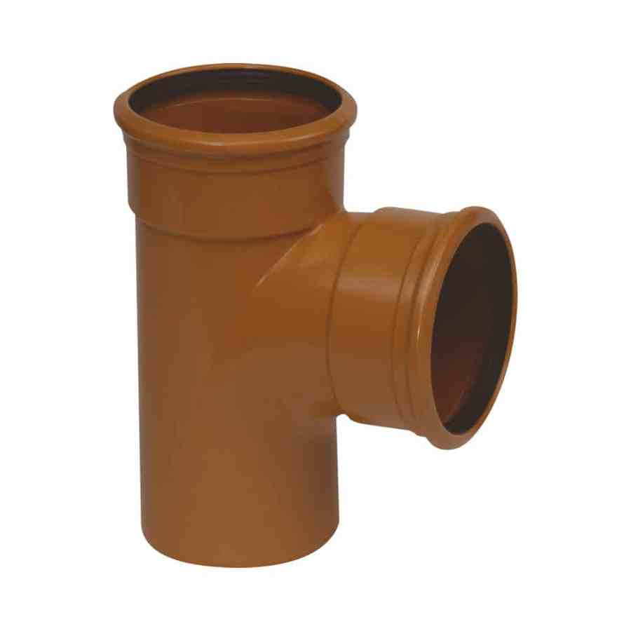 160mm Underground Drainage 90d Double Socket Tee Branch