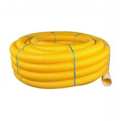 100mm Yellow Perforated Gas Ducting x 50m Coil