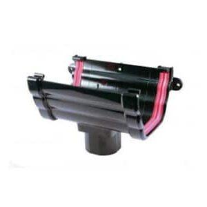 Black Double Ogee Guttering 135mm