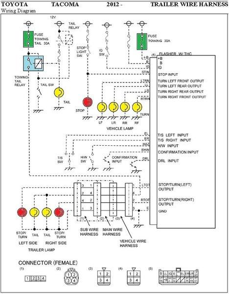 1995 Toyota Tacoma Radio Wiring Diagram