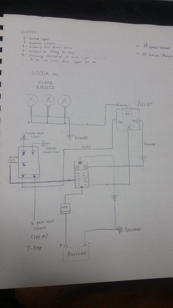 Universal Headlight Switch Wiring Diagram Likewise 5 Wire Relay Wiring