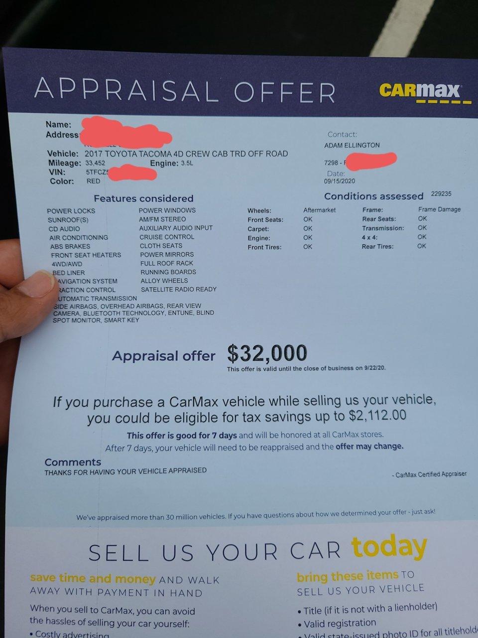 Carmax Finance Calculator : carmax, finance, calculator, CARMAX, Appraisal, Tacoma, World