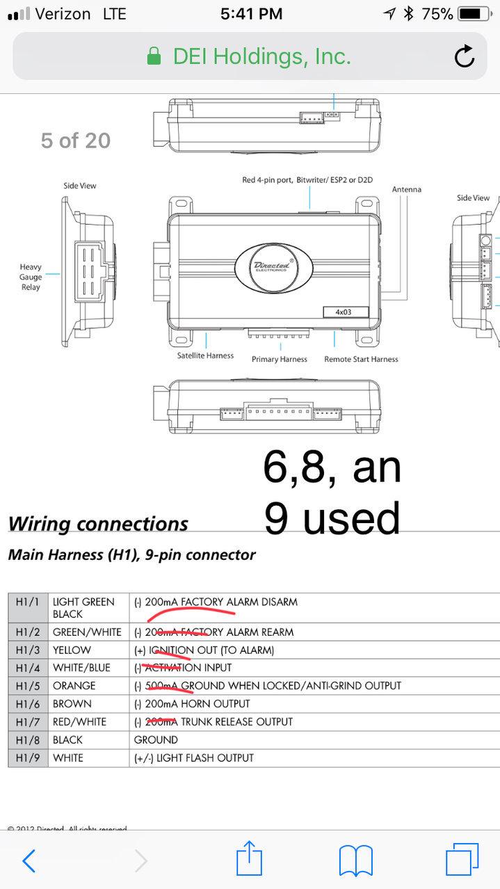 Viper Remote Start Wiring Diagram : viper, remote, start, wiring, diagram, Viper, 4105v, Remote, Start, Tacoma, World