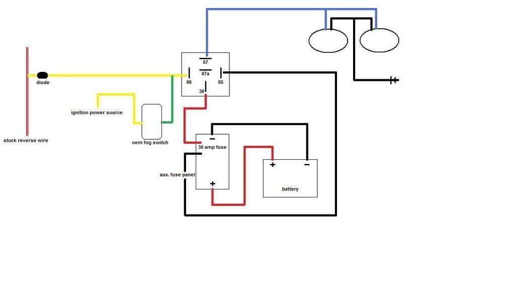 Handheld Spotlight Wiring Diagram. Light Relay Wire