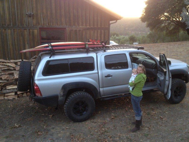 8 surfboard on taco camper shell ok