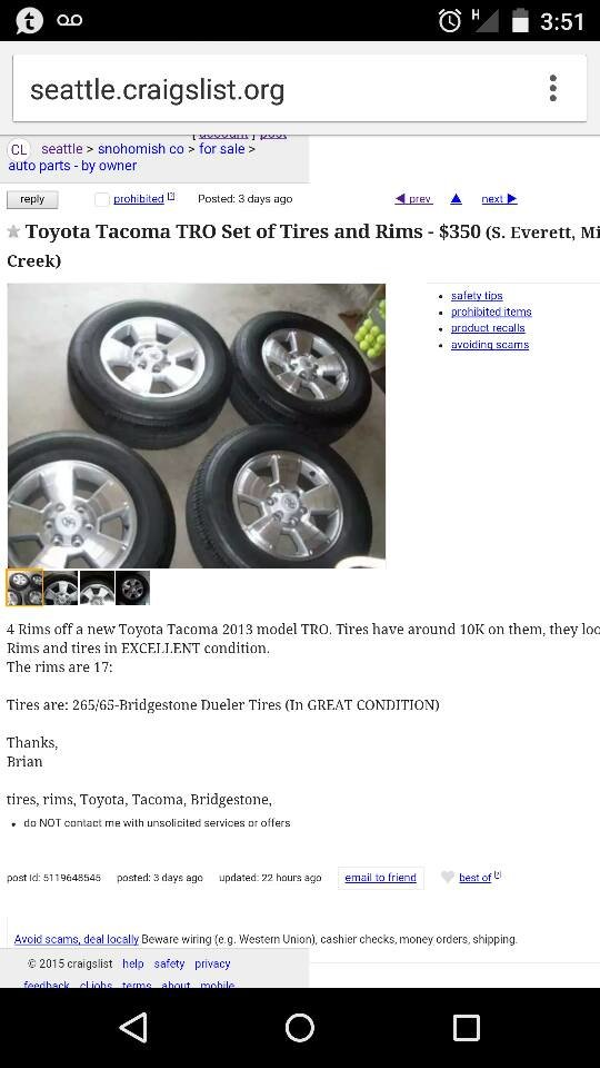 Craigslist Seattle Tacoma Cars By Owner