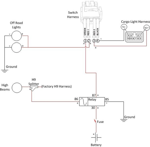 cargo light wiring diagram 1994 ford mustang radio off road lights on with high beams w toggle switch tacoma world jpg