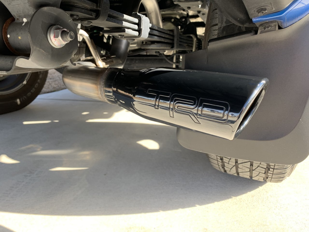 trd exhaust drone tacoma world