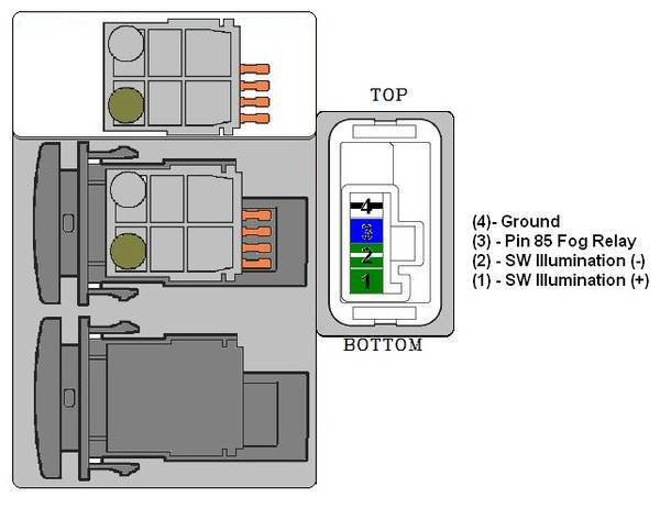 wiring diagram for light bar switch electric plug oem to air on board fog | tacoma world