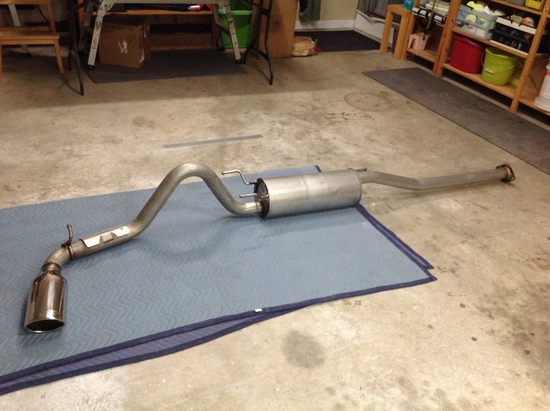trd stainless steel cat back exhaust