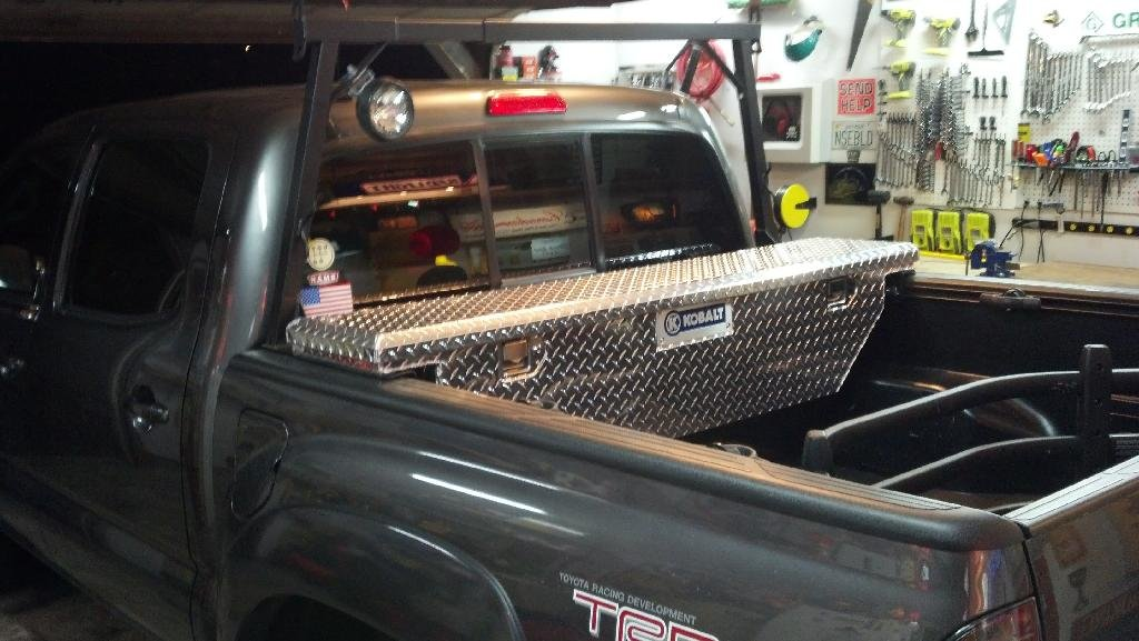 back rack with toolbox tacoma world