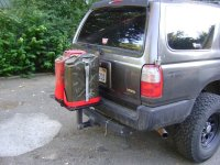Hitch Mounted Gas can/tire holder