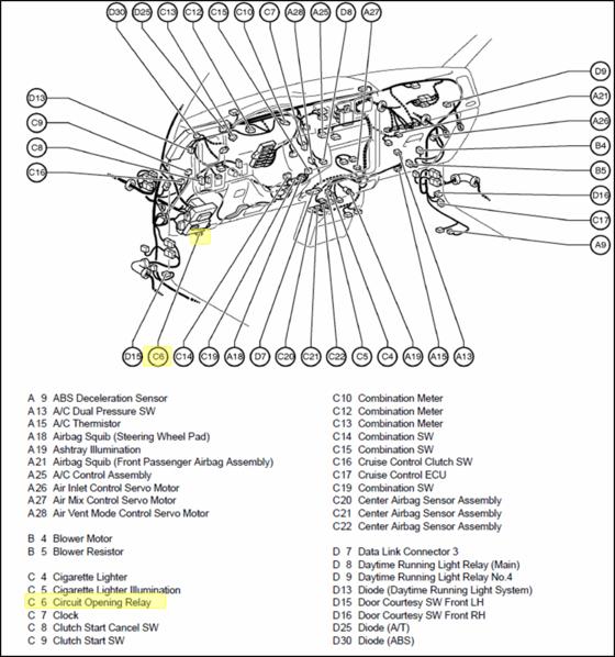 Toyota 4runner Fuel Pump Relay Location