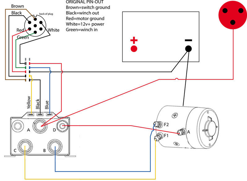 Wires To The Winch Controller Contactor An Annotated Wiring Diagram