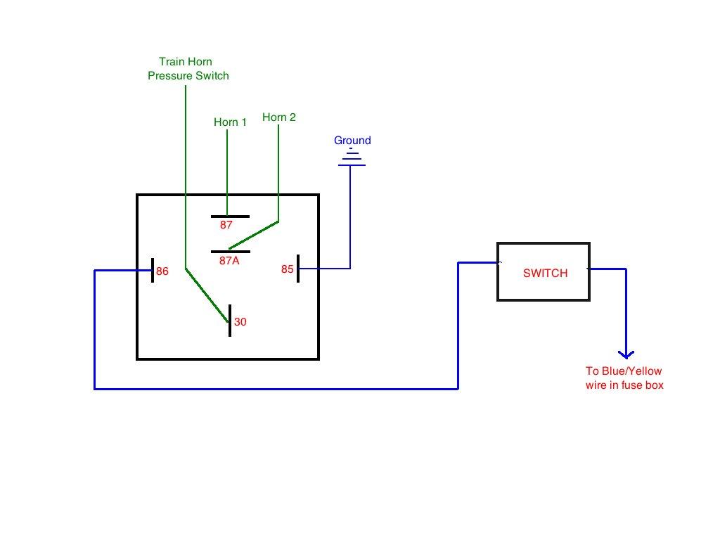 relay wiring diagram train horn
