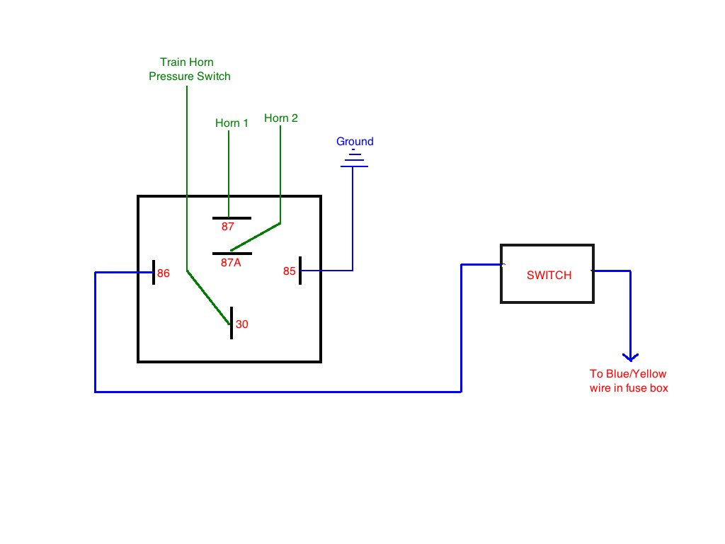 horn relay diagram wiring air brake tractor trailer fuse keeps blowing page 2 tacoma world