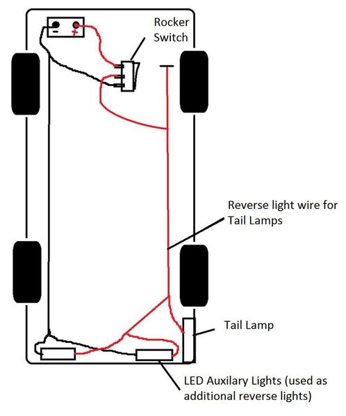 truck lite led wiring diagram viper remote start additional light great installation of problem aux reverse lights w switch override tacoma world rh tacomaworld com chevy tail big