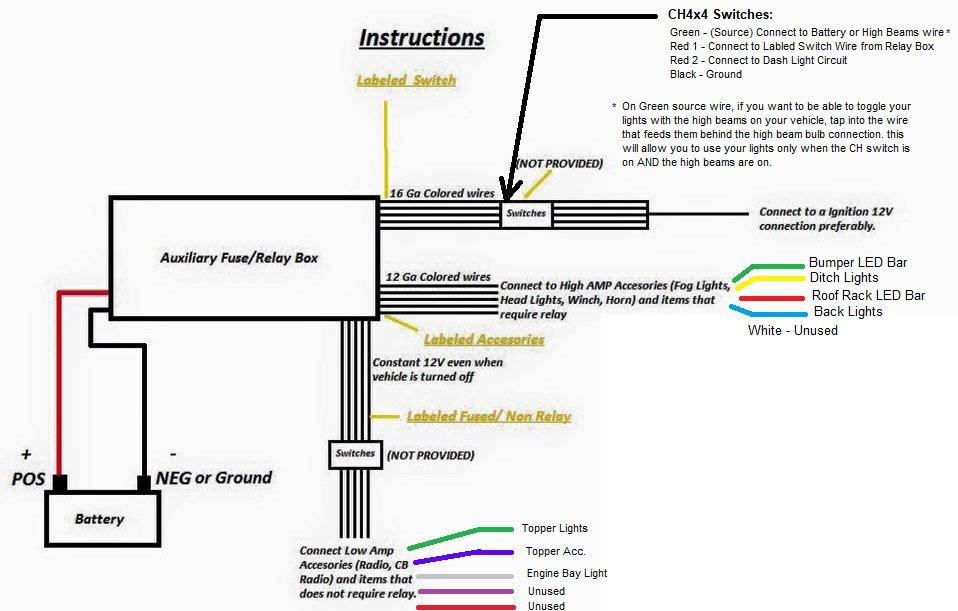 led light bar relay wiring diagram planaria labeled off road lights on with high beams w toggle switch tacoma world here