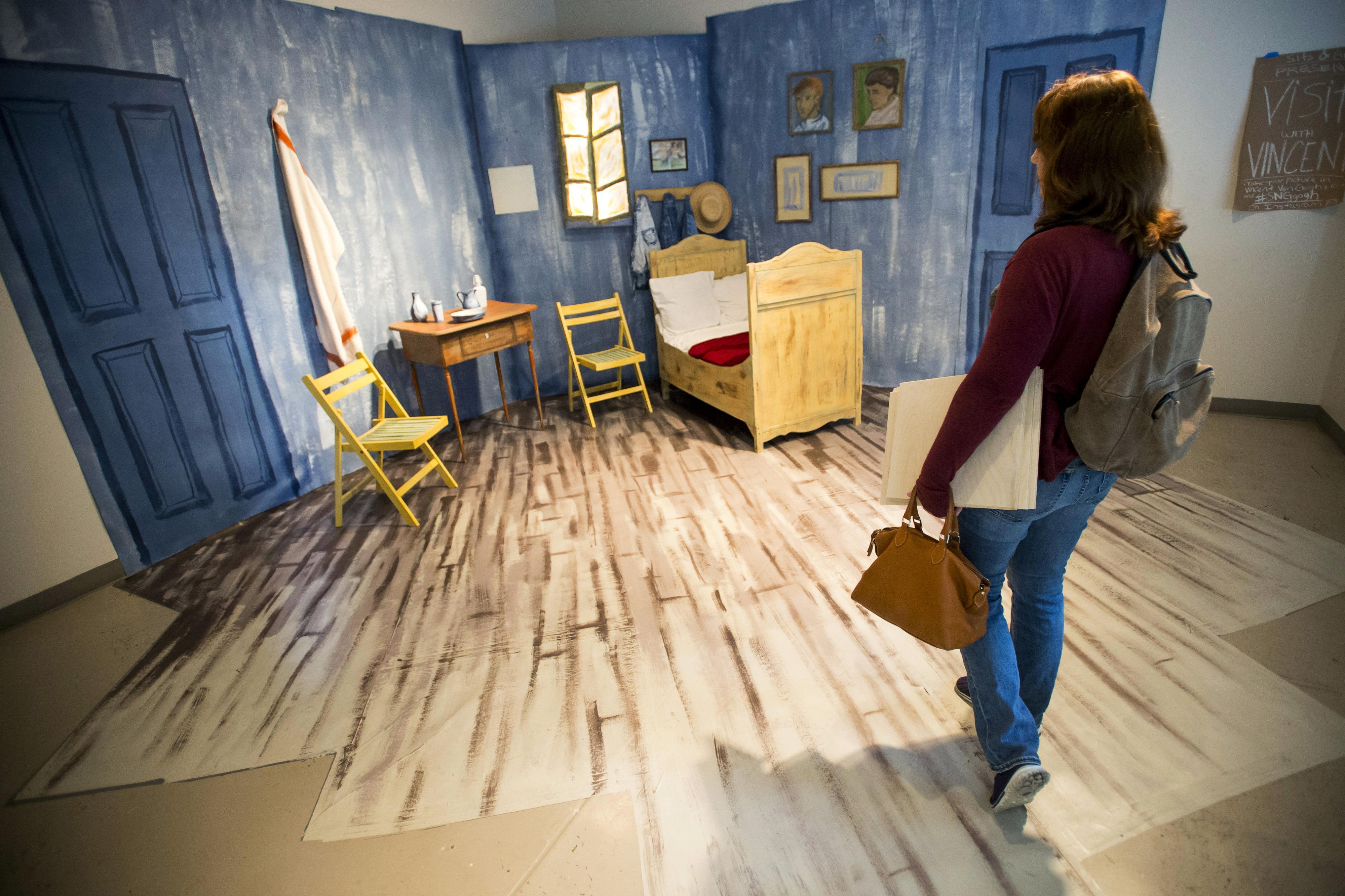 unl art students convert vincent van gogh's 'bedroom' - washington