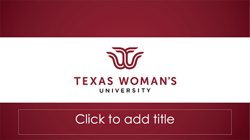 PowerPoint Templates  Marketing  Communication  Texas Womans University