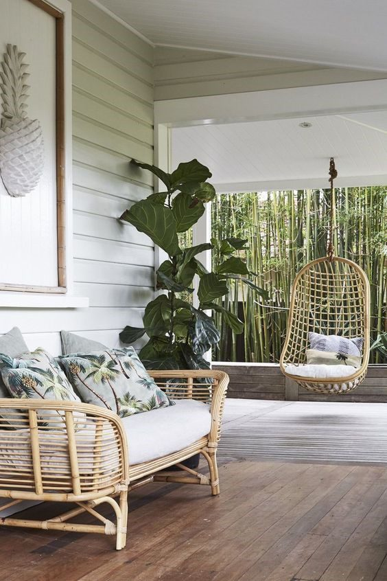 cane sofa and cane hanging chair - the resurgence of cane furniture