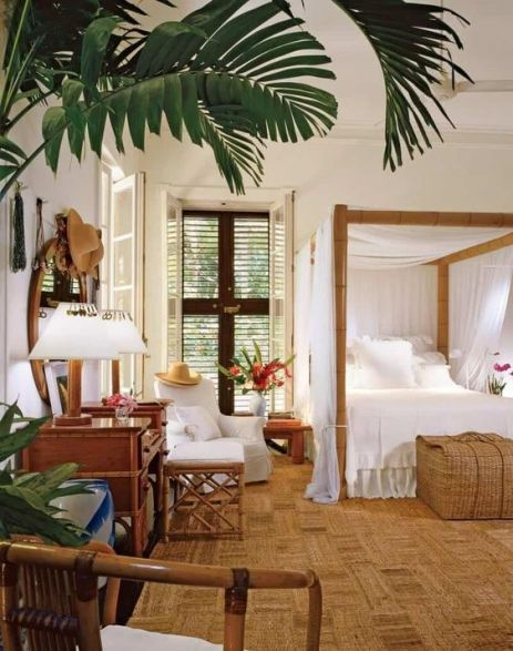Tropical Home Decor bedroom