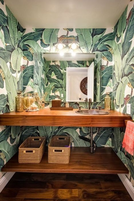 Tropical Home Decor bathroom
