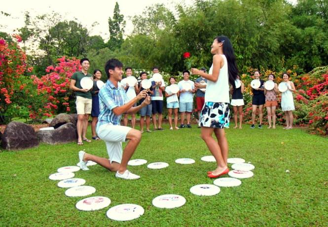 Proposal at Singapore Botanical Gardens