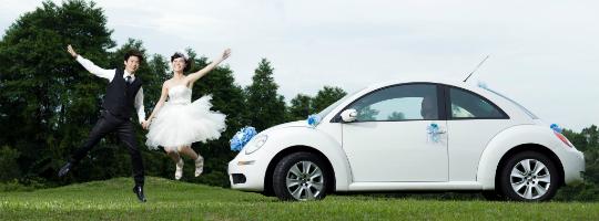 white wedding cars