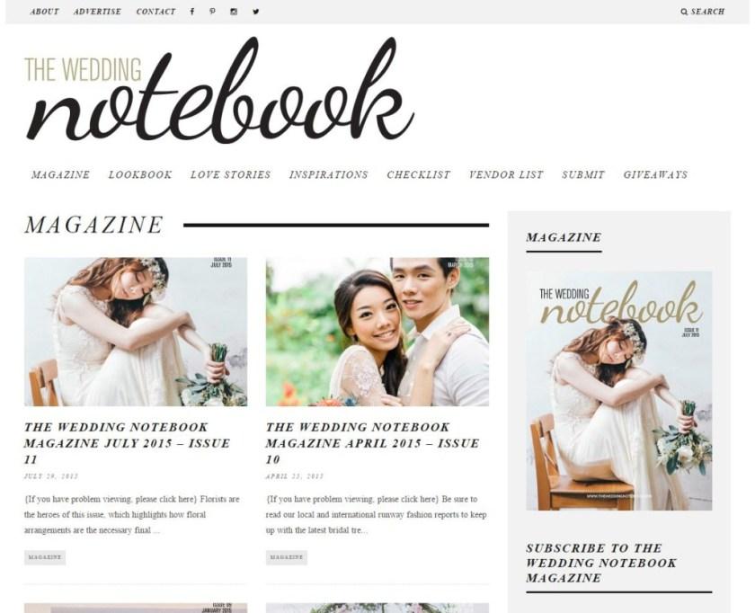 the wedding notebook screenshot
