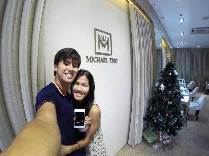 Michael Trio Engagement Rings Singapore 9