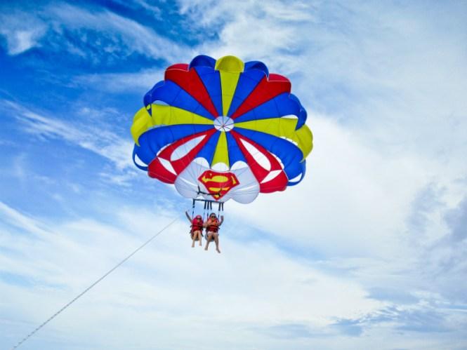 Boracay honeymoon parasailing